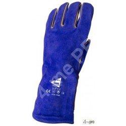Gants soudeur protection thermique - cuir bovin cousu kevlar - normes EN 388 3133 / EN 407 413x4x